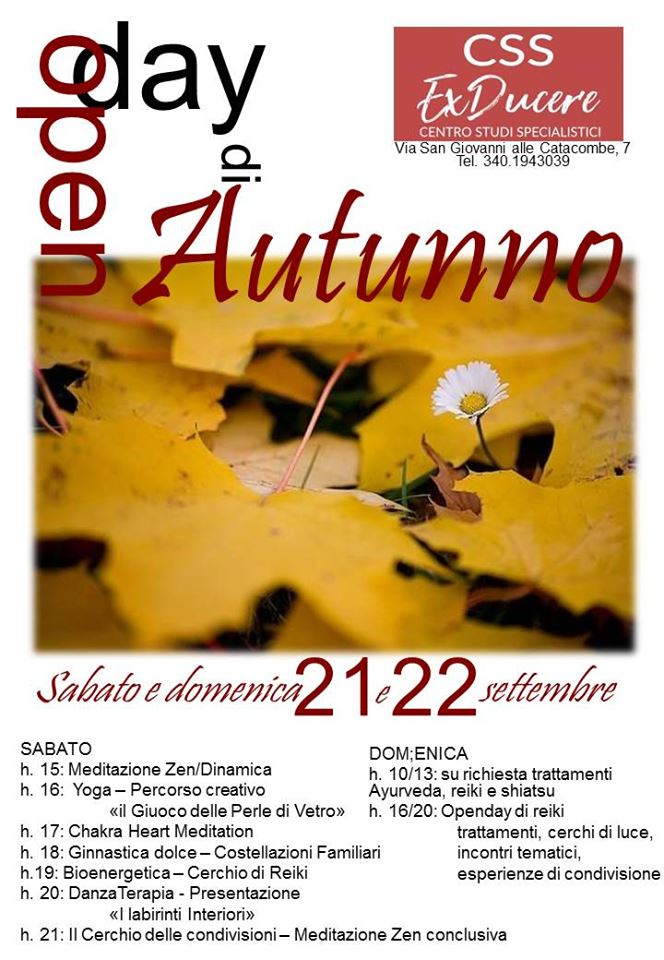 Open Day d'Autunno